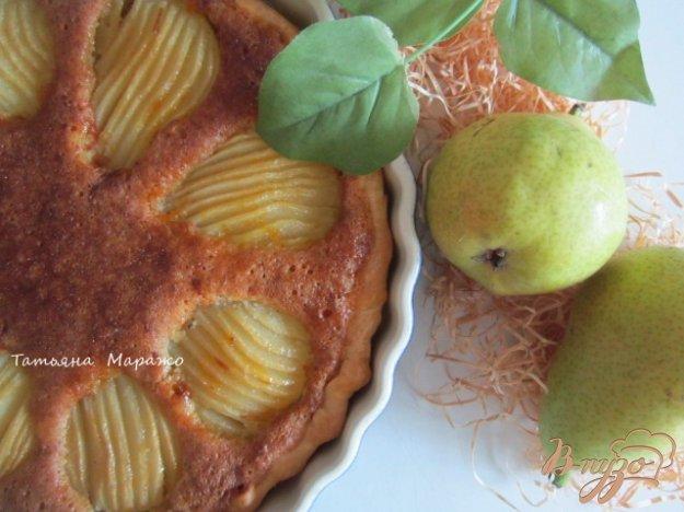 Рецепт Открытый пирог с грушами