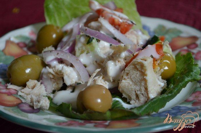 Фото приготовление рецепта: Куриный салат с овощами шаг №3