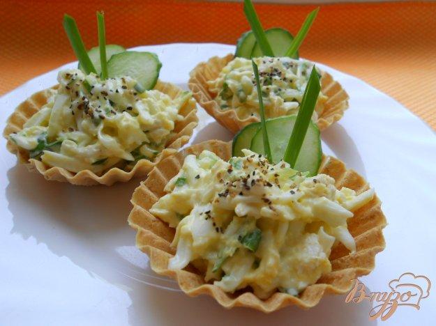 Рецепт Тарталетки с курицей и огурцом