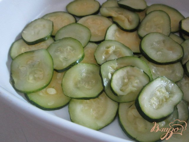 Фото приготовление рецепта: Запеканка из цукини с фаршем шаг №5