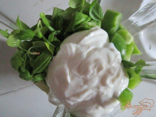 Фото приготовление рецепта: Огуречный  холодный суп шаг №2