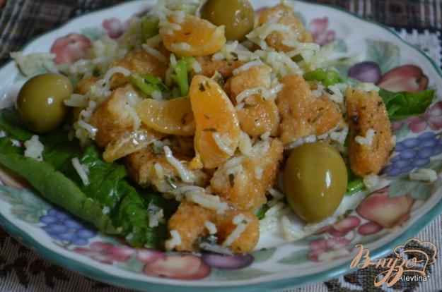 Рецепт Салат с курицей и апельсином