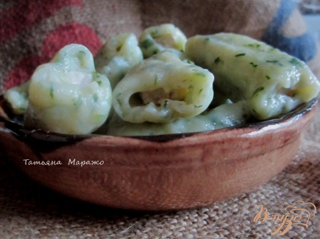 фото рецепта: Картофельные клецки с куриным мясом