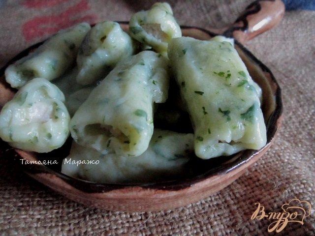 Фото приготовление рецепта: Картофельные клецки с куриным мясом шаг №8