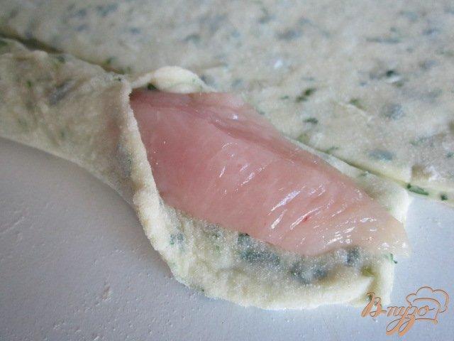 Фото приготовление рецепта: Картофельные клецки с куриным мясом шаг №5
