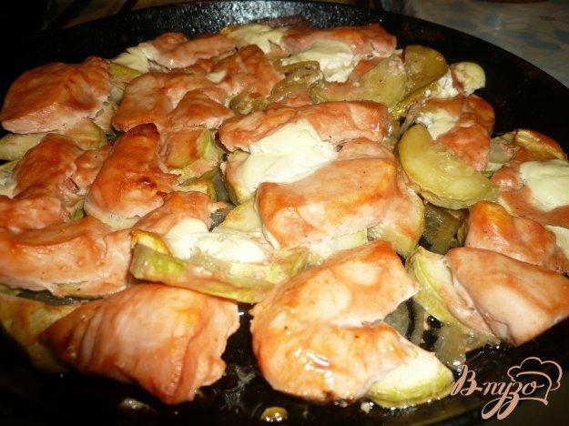 Кабачки с грудкой в духовке рецепт с пошаговый