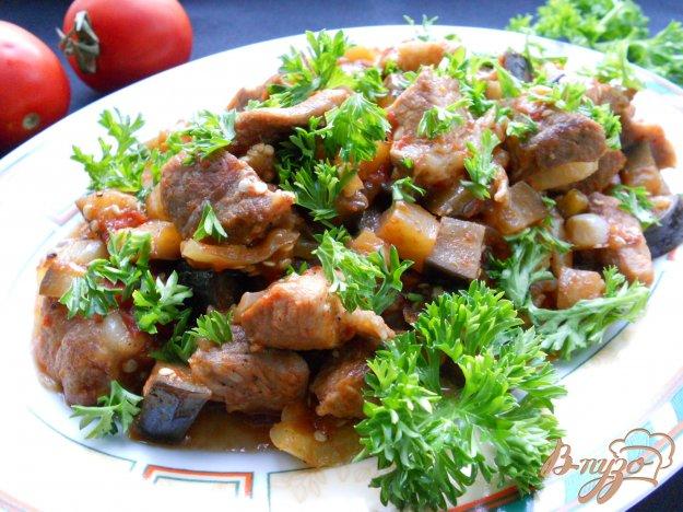 Рецепт Свинина с баклажанами в остром соусе