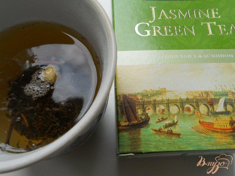 Фото приготовление рецепта: Сорбе из арбуза с жасминовым чаем шаг №3