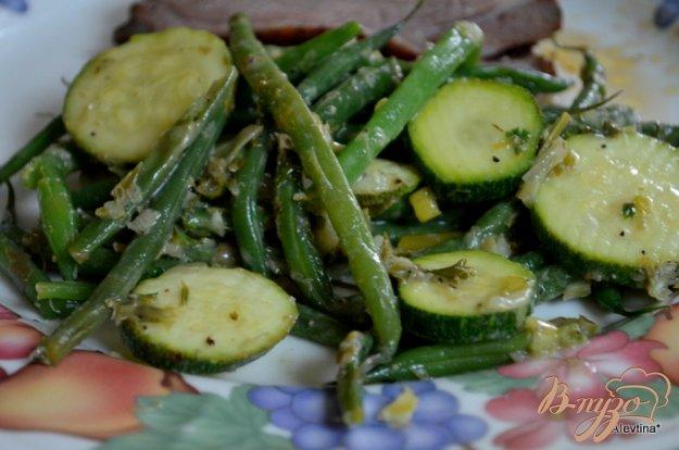 Рецепт Зеленая фасоль и цуккини с соусом Verte