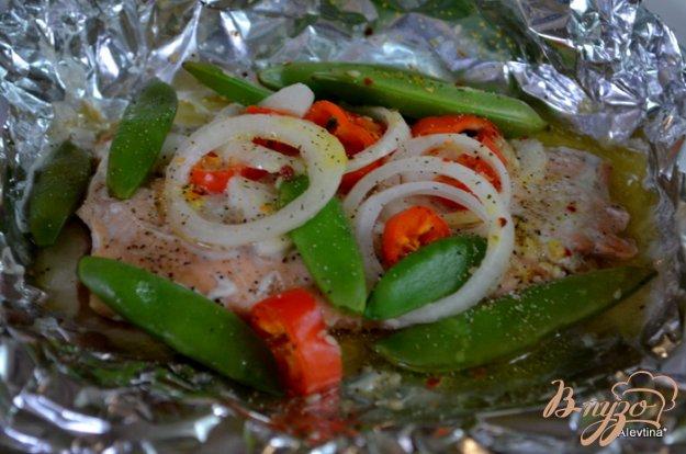 Рецепт Cемга с овощами в фольге