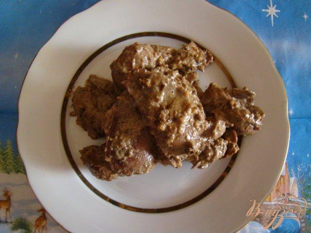 Рецепт Куриная печень с горчицой и сметаной