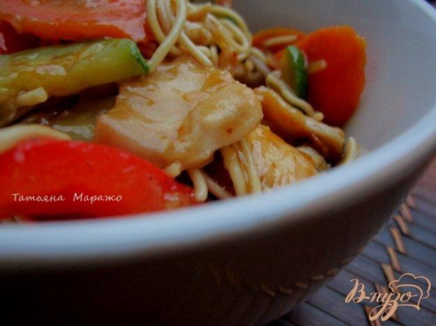 Рецепт Лапша с овощами и куриным мясом