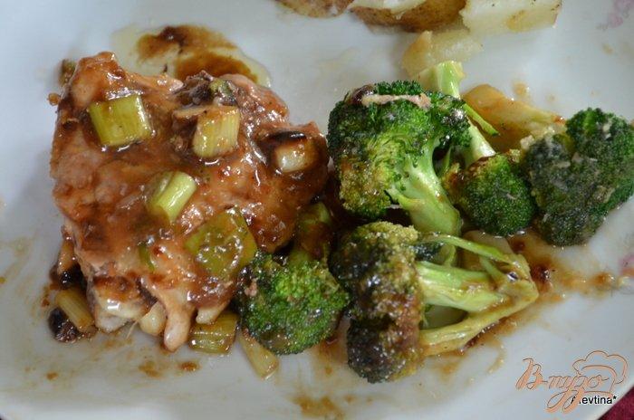 Фото приготовление рецепта: Курица с брокколи стир-фрай шаг №3
