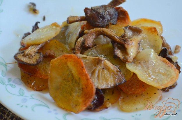 фото рецепта: Картофельная галета с грибами