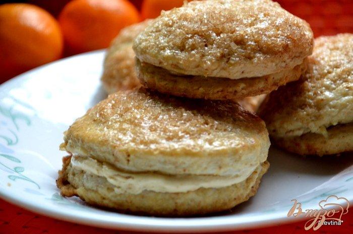Фото приготовление рецепта: Апельсиновые сконы с начинкой шаг №7