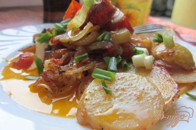 фото рецепта: Картофель молодой с помидорами