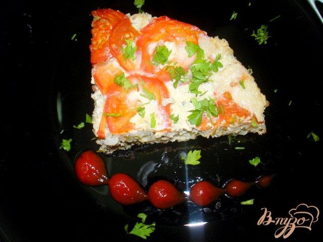 Фото приготовление рецепта: Запеканка  рисовая с фаршем, рисом и кабачками шаг №7