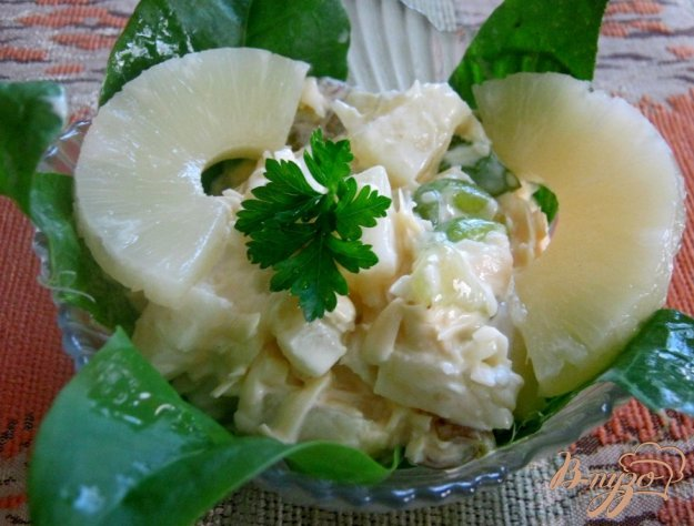 Рецепт Салат с виноградом и сыром