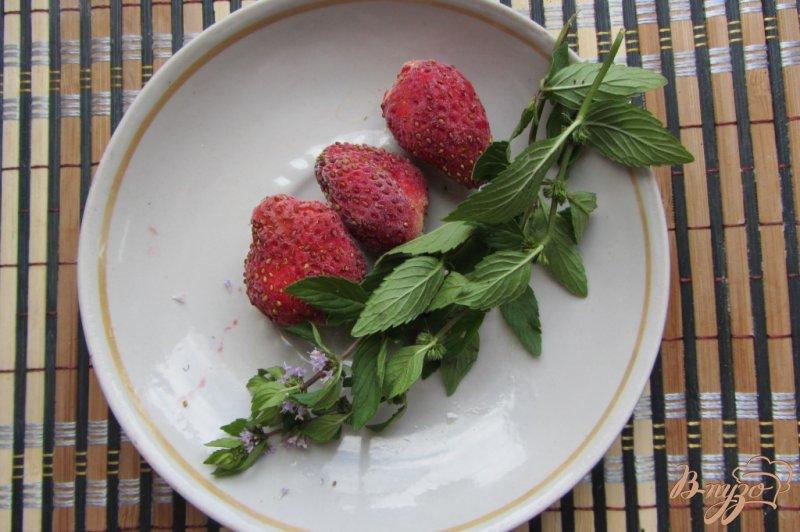 Фото приготовление рецепта: Клубнично-мятный коктейль шаг №1