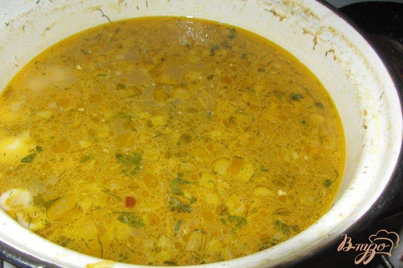 Фото приготовление рецепта: Макаронный суп с куриными сердечками шаг №7