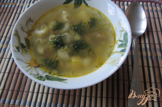 фото рецепта: Макаронный суп с куриными сердечками