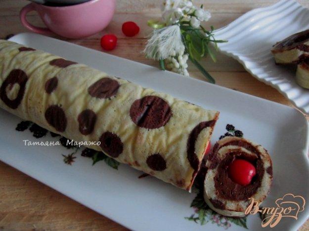 Рецепт Бисквитный рулет с шоколадным муссом