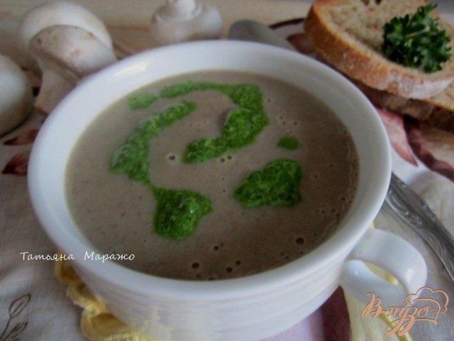 Фото приготовление рецепта: Грибной суп с горчицей шаг №7