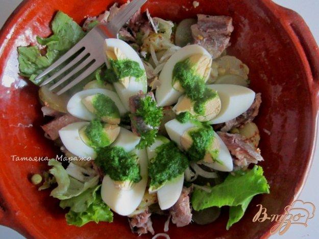 Рецепт Салат с сардинами