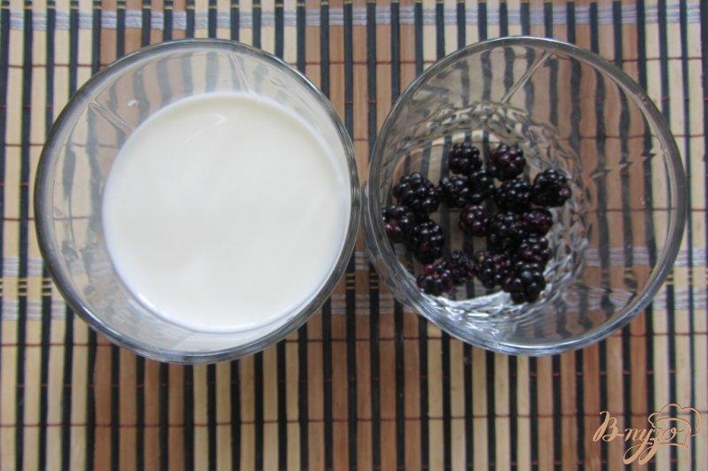 Фото приготовление рецепта: Молоко с ежевикой шаг №1