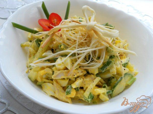 фото рецепта: Салат с копченым сыром сулугуни