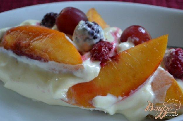 Рецепт Фруктовый пирог с ванильным пудингом