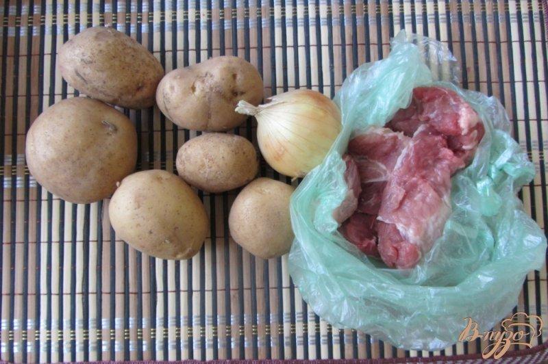 Фото приготовление рецепта: Картофель тушеный с мясом шаг №1