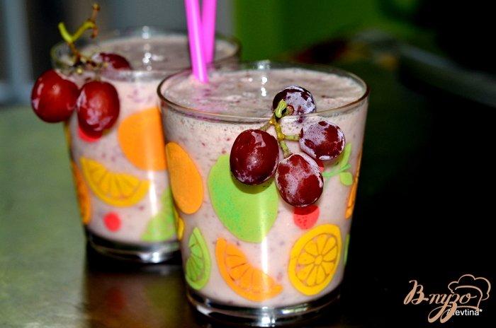 Фото приготовление рецепта: Виноградный смузи шаг №3
