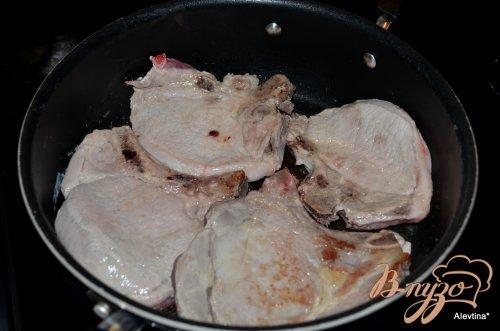 Свиные котлеты на косточке с горчицей