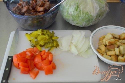 Салат из гамбургера