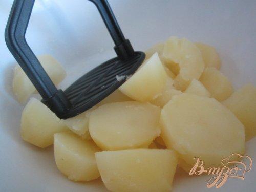 Картофельные клецки с куриным мясом