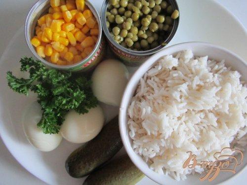 Яично-рисовый салат