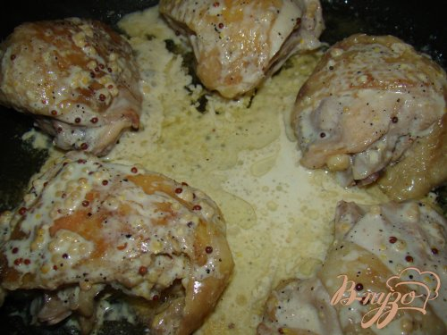 Курица с горчицей и сметаной