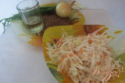Гречка по-домашнему с квашенной капустой