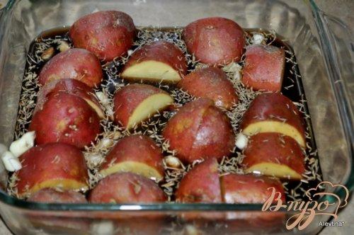 Картофель в бальзамической глазури