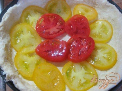 Пирог-суфле с помидорами