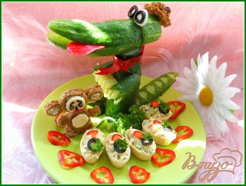 Закуска «Подарки для крокодила Гены и чебурашки»