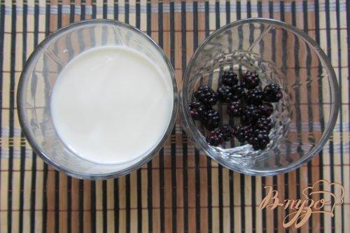 Молоко с ежевикой