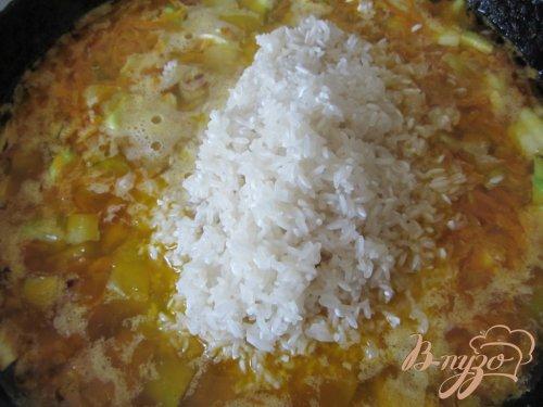 Кабачки тушеные с рисом