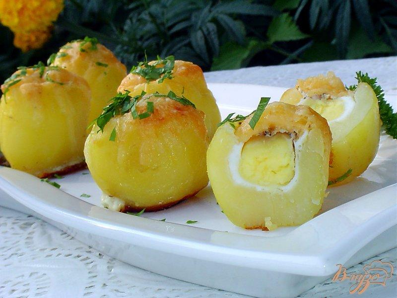 Картошка с яйцами в духовке рецепт с пошагово в