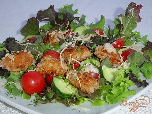 Рецепт Салат с мини-котлетами
