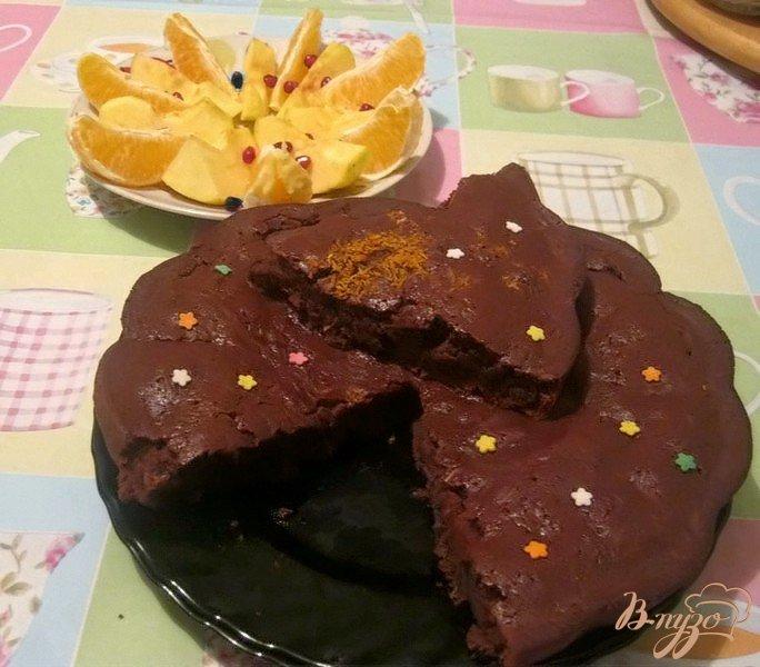 Фото приготовление рецепта: Шоколадно-апельсиновый кекс шаг №6