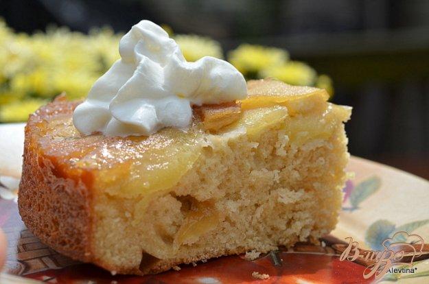 Рецепт Перевернутый кекс с имбирным яблочным вкусом