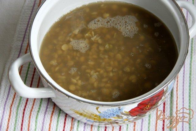 Фото приготовление рецепта: Постный гороховый суп с вермишелью шаг №2