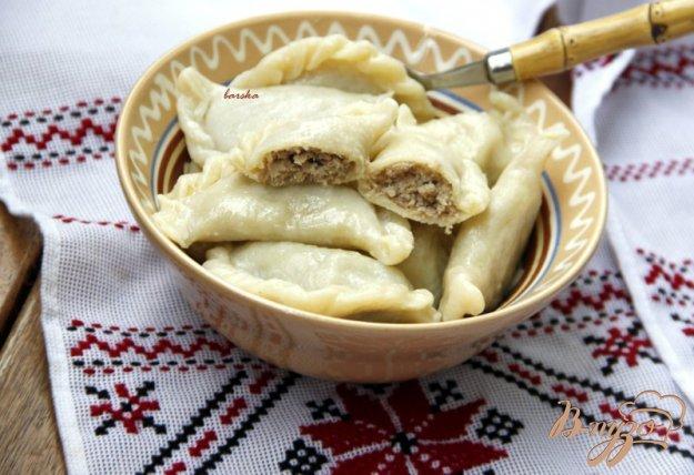 Рецепт Вареники с мясом из заварного теста на белках